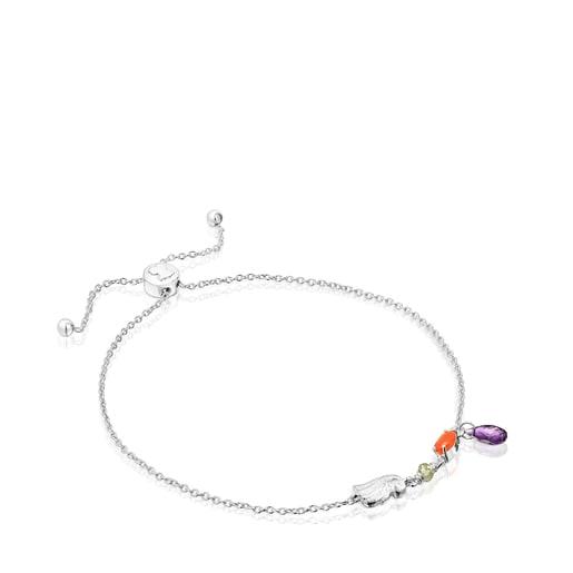 Silver Sea Vibes Bracelet with gemstones