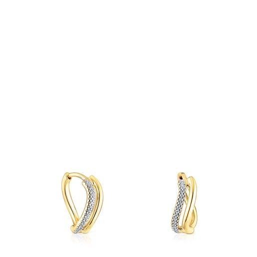 Gold Hav Earrings with diamonds