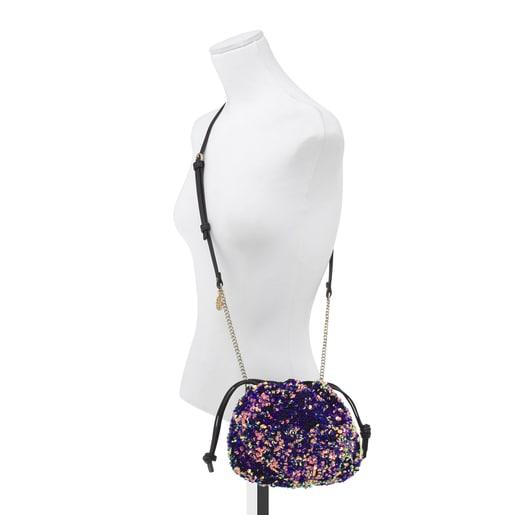 Mini multi-lilac Liz Bucket bag