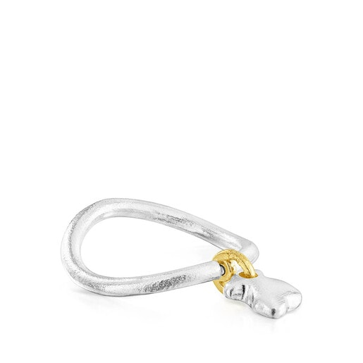 Two-tone Luah bear Ring
