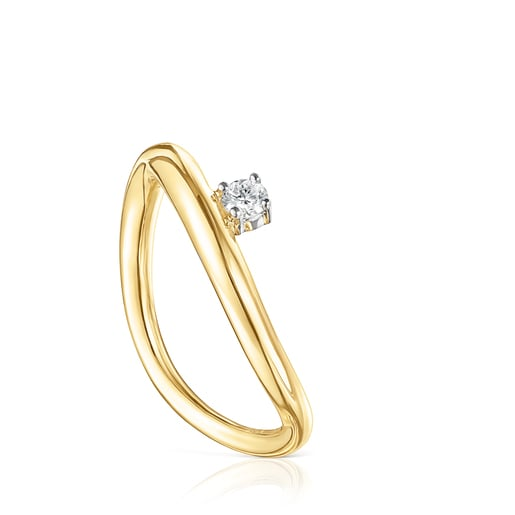 Anillo de oro y diamante Hav