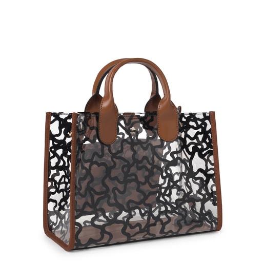 Medium brown Amaya Vinyl transparent Shopping bag
