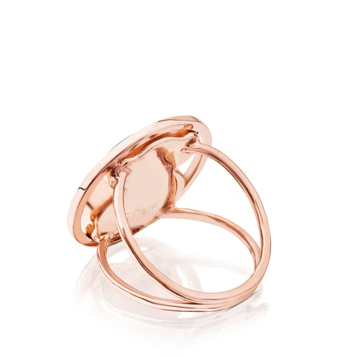 Ring Camille aus rosa Vermeil-Silber mit Amazonit