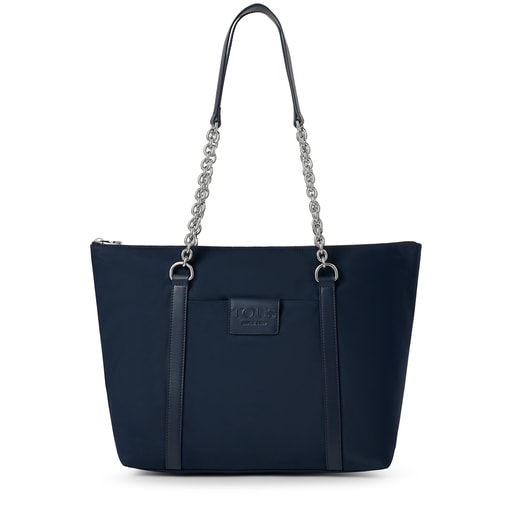 Large navy blue Empire Soft Chain Tote bag