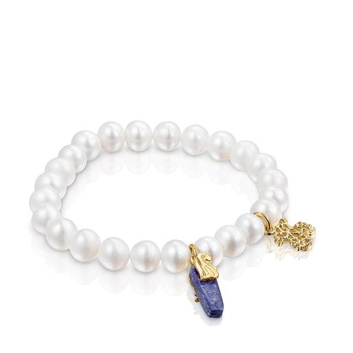 Βραχιόλι Oceaan Color με μαργαριτάρια και λάπις λάζουλι