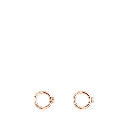 Piercing d'orella TOUS Basics d'acer IP rosat