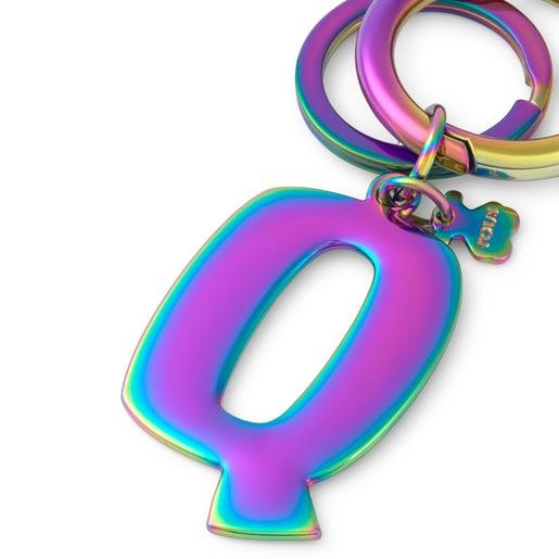 Iridescent Touscedario Letter Q Key ring