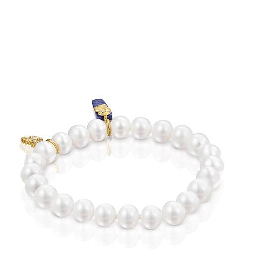 Pulsera de perlas y lapislazuli Oceaan Color