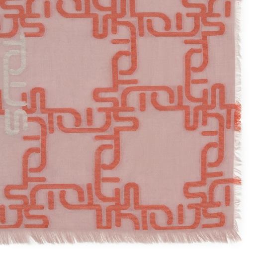 Logogram Jacquard Pink Foulard