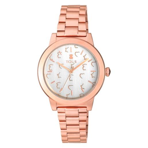 Pink IP steel Glazed Watch
