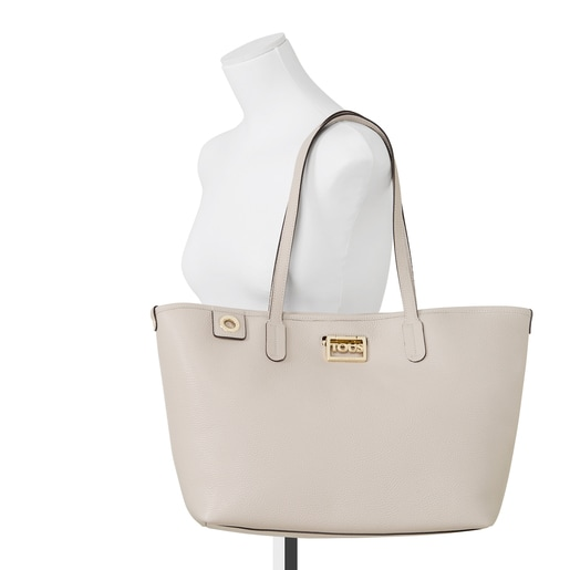 Beige leather TOUS Legacy Tote bag