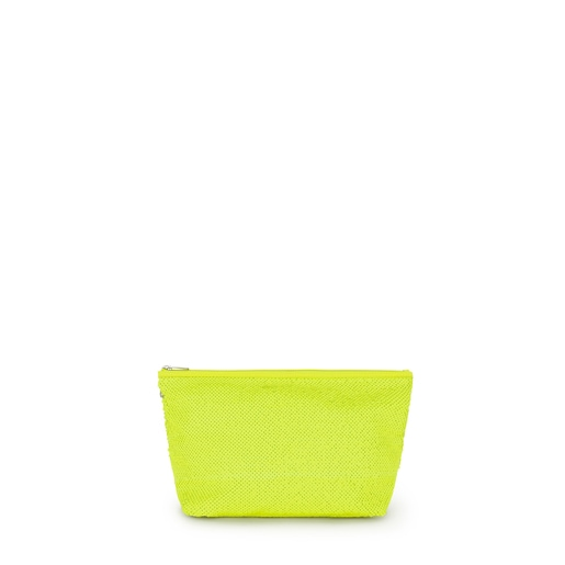 Bolsa Pequeña Kaos Shock Sequins Amarillo Fluorescente