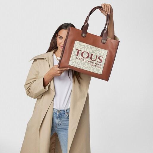 Große Shopping-Tasche Amaya Kaos Icon mehrfarbig in Braun