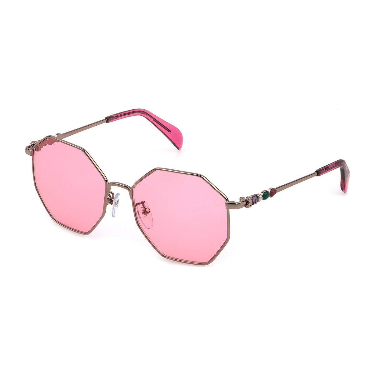 Brown Metal Jolie Seventies Sunglasses