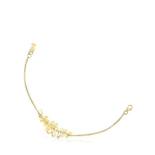 Silver Vermeil Real Mix Leaf Bracelet
