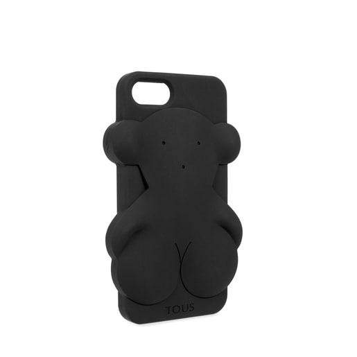 Funda de móvil iPhone 7 Rubber Bear en color negro