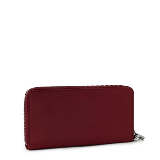 Medium burgundy Empire Soft Chain Wallet