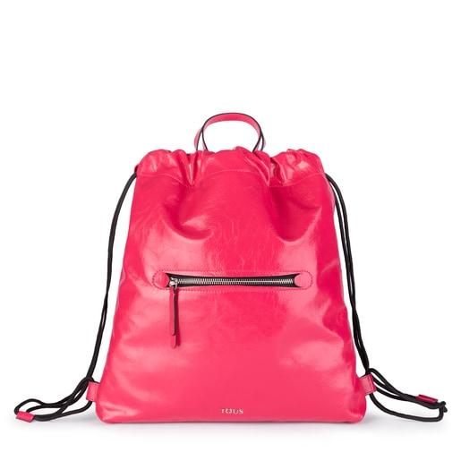 Fuchsia Leather Tulia Crack Backpack