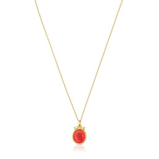 Carnelian and pearl Oceaan Necklace set