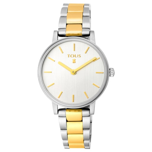 Two-toned gold/steel IP Rond Straight Watch