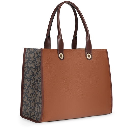 Large multi-brown Amaya Kaos Icon Shopping bag