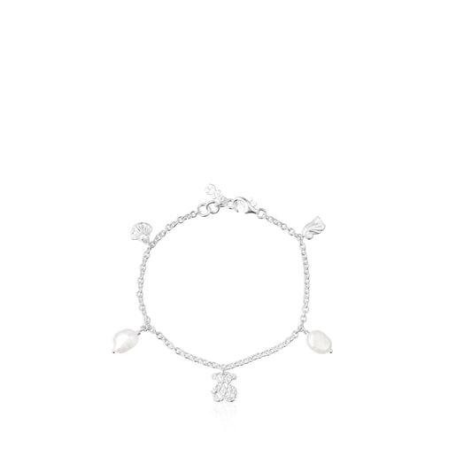 Pulsera Oceaan de plata y perlas