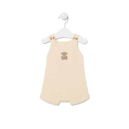Ranita de bebé de tricot Crudo