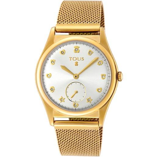 Reloj Free de acero IP dorado
