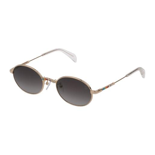 Gafas de sol Straight Gem de Metal en color dorado