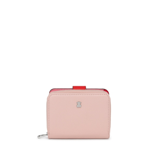 Small pink and beige New Dubai Wallet