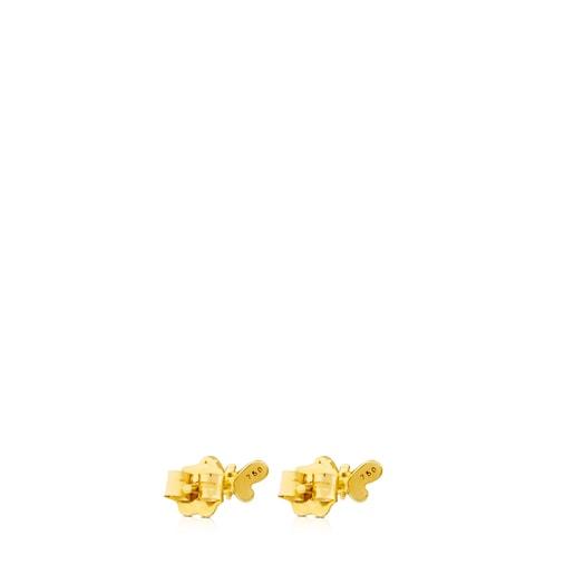 Σκουλαρίκια Bear από Χρυσό με Διαμάντι