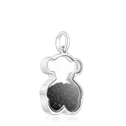 Silver Areia Pendant with onyx