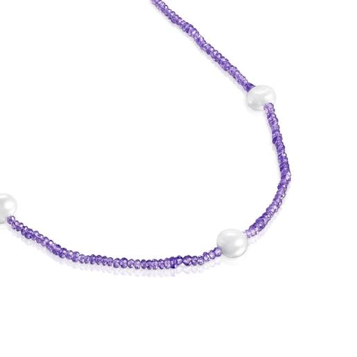 Collar de amatistas y perlas Sea Vibes