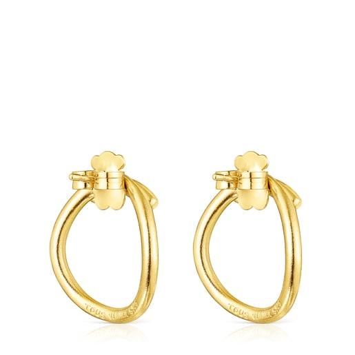 Silver vermeil Hav circular Earrings