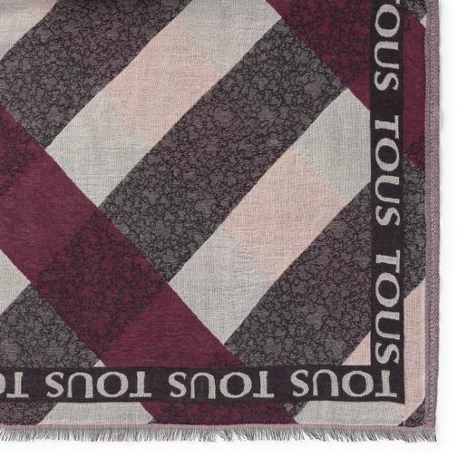 Fulard Kaos Mini Stripes de jacquard rosa