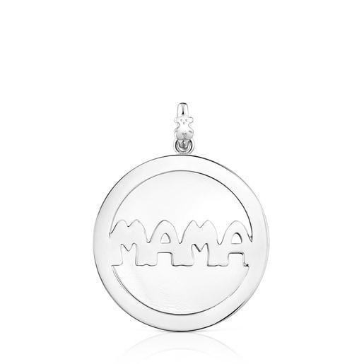 Large Silver TOUS Mama Pendant