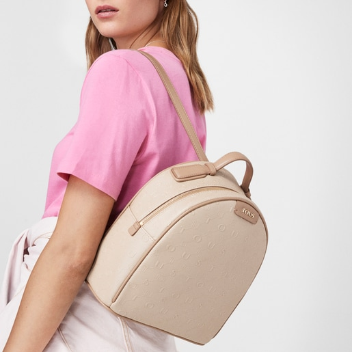 Rucksack Script Day in Taupe