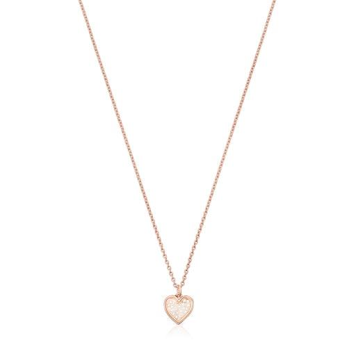 Collier Areia en argent vermeil rosé et perles