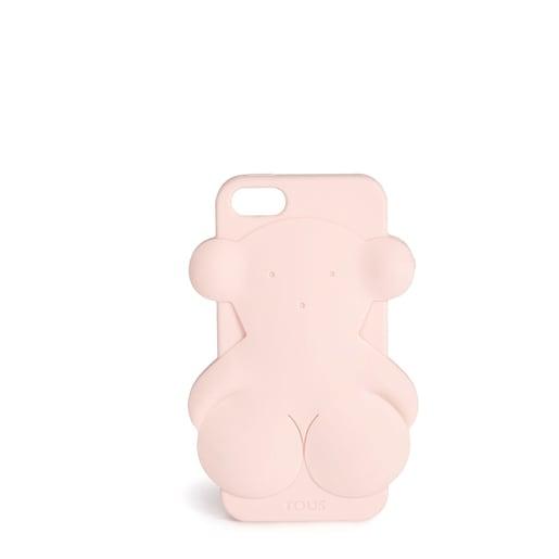 Funda de móvil iPhone 5 Rubber Bear en color rosa