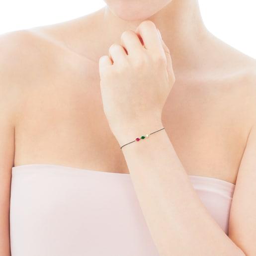 Bracelet Gem Power en Argent et Or avec Pierres précieuses