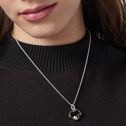 Collar Silueta de Plata con Perla