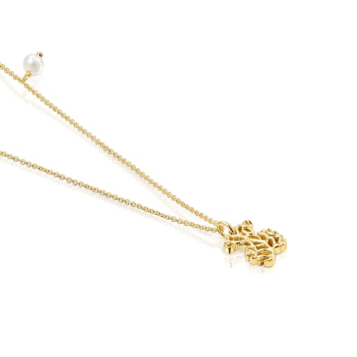 Gold Oceaan Necklace with pearl