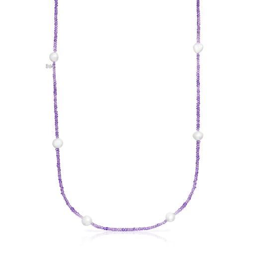 Amethyst and pearl Sea Vibes Necklace