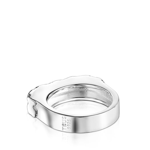 Silver Straight bears Signet Ring