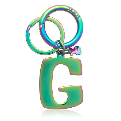 Iridescent Touscedario Letter G Key ring