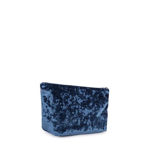 Bolsa pequeña Kaos Shock de Terciopelo azul