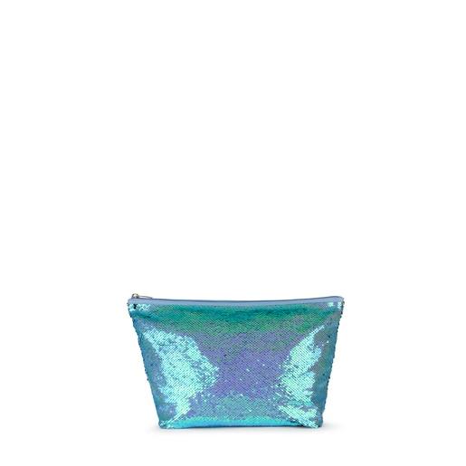 Bolsa pequeña Kaos Shock Sequins azul