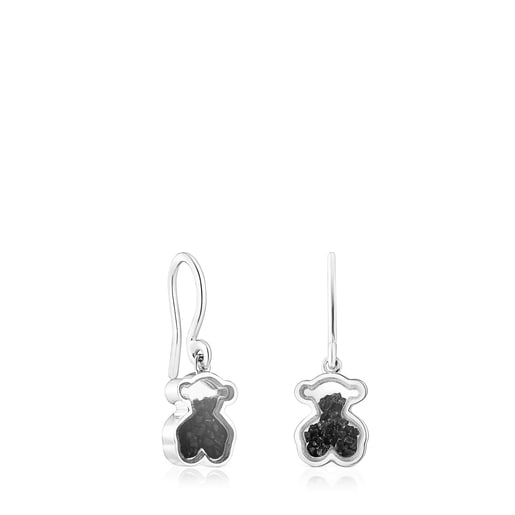 Silver Areia Earrings with onyx