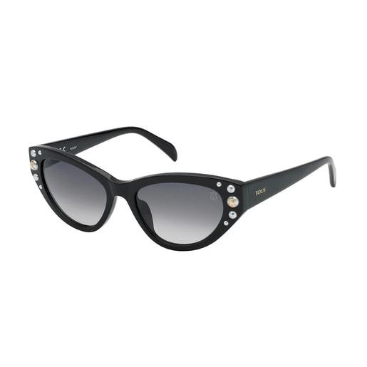 Gafas de sol Square Bear negro con brillantes