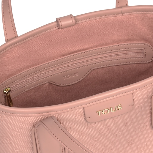 Small pink Script Day tote bag